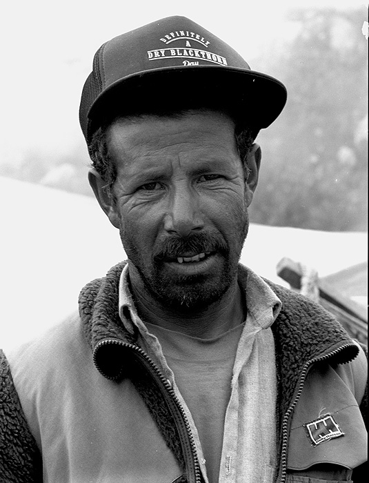 Portrait of my good friend and companion on many treks in the Karakoram over 20 years. Taken at Askole.Bronica ETRSi, 70mm, Kodak T-Max 400 @ 800ASA