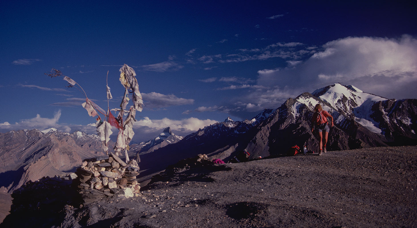 The crest of this 4850m pass, looking southCanon A1, 28mm, Kodachrome