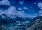 Looking south towards The Fang and the Pakistan Karakoram from above Sughet Jangal