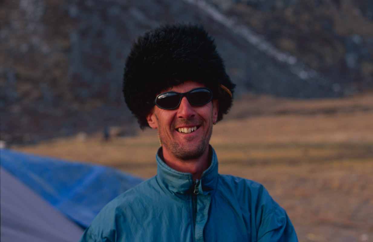 Me and my Lunana hat!Nikon FM2, 50mm, Fuji Velvia