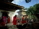 Women making their puja (prayers) during the Hindu festival of TeejNikon FM2, 24mm, Fuji Velvia