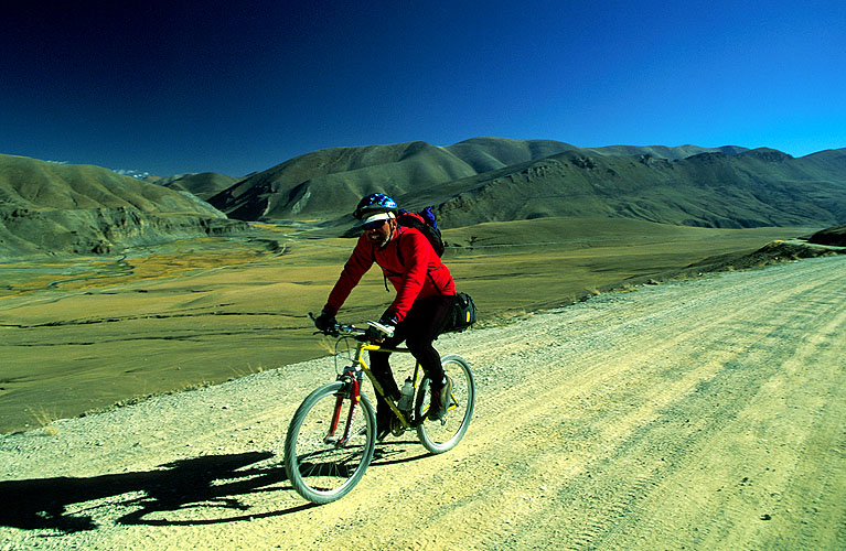 Cranking it out on the last of many punishing climbs during the 1000+km ride from Lhasa to KathmanduNikon FM2, 24mm, Fuji Velvia
