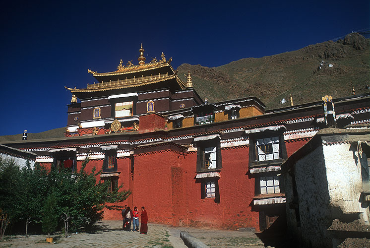 Tashilhunpo is one of the greatest of all the Gelukpa monasteries in Tibet, and the seat if the Panchen Lama. This temple houses the largest statue of Maitreya (the future Buddha) in the world.Nikon f5, 17-35mm, Fuji Velvia 100