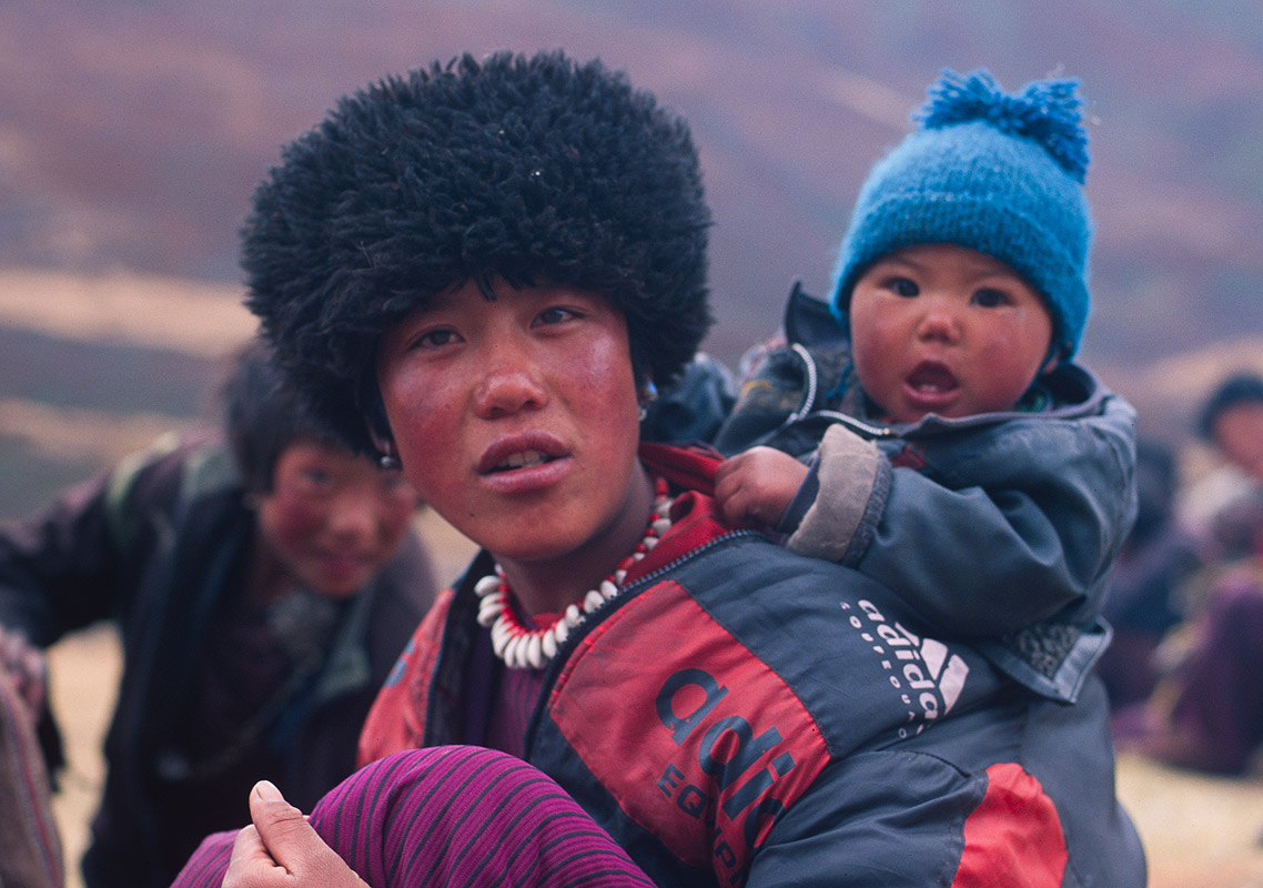 A woman and her daughterNikon FM2, 50mm, Fuji Velvia