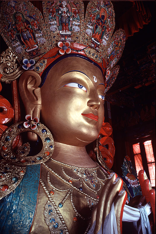 The future Buddha, at Thiksey Gompah, LadakhCanon A1, 50mm, Kodachrome 64