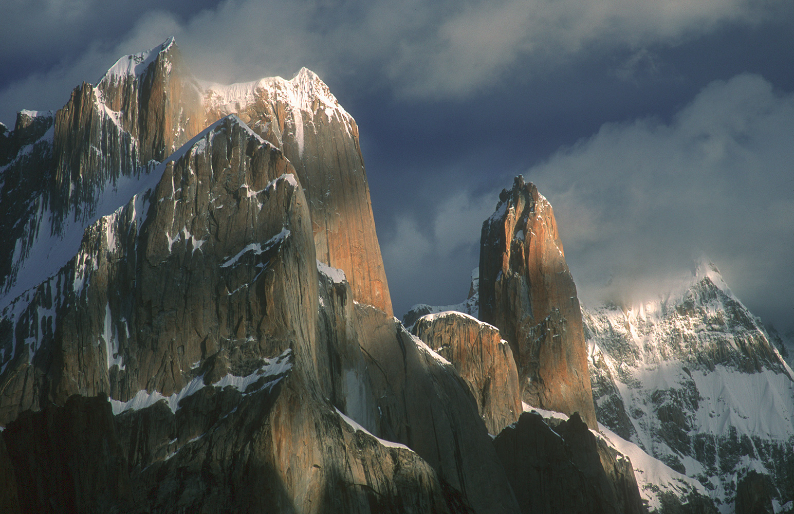 Telephoto from Urdokas on the Baltoro glacier
