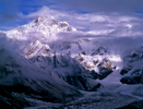 Seen looking up the Milam glacier from Sandilya Kund (3780m)Nikon FM2, 105mm, Fuji Velvia
