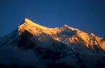 Seen from Yak Karka below the Damphus Pass at sunset.Nikon FM2, 105mm, Fuji Velvia