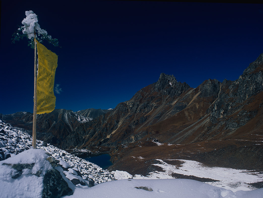 Above the plains of Uruthang (Warthang) on the Lunana / Snowman trekBronica ETRSi, 50mm, Fuji Velvia