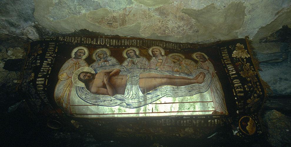 In the Georgian Orthodox chapelNikon F5, 17-35mm, Fuji Velvia 100