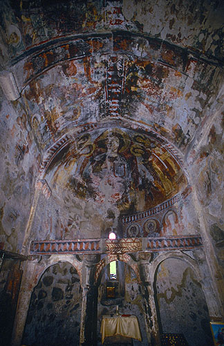 Upper Svaneti may be a UNESCO World Heritage site on account of its thousand year-old fortified houses and the murals in it similarly ancient churches, but many are being tragically neglected.Nikon F5, 17-35mm, Fuji Velvia 100