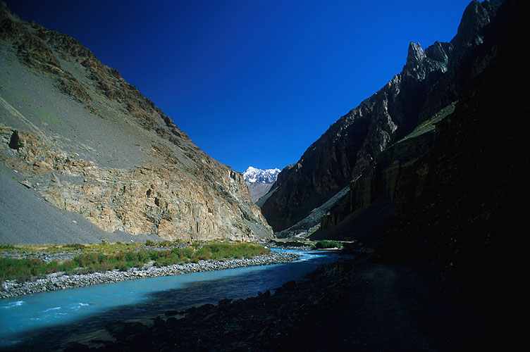 It was into this almost impossibly remote valley in the mountains of Chinese Turkestan that Eric Shipton and his companions came in 1937. To the north lie the Aghil mountains and the scorched deserts of Takla Makhan. To the south, the Karakoram range and Pakistan. Today, expeditions to the Karakoram from this side still have to walk this historic route.Nikon FM2, 24mm, Fuji Velvia
