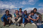My Kashmiri crew on the trek from Leh to ManaliCanon A1, 28mm, Kodachrome