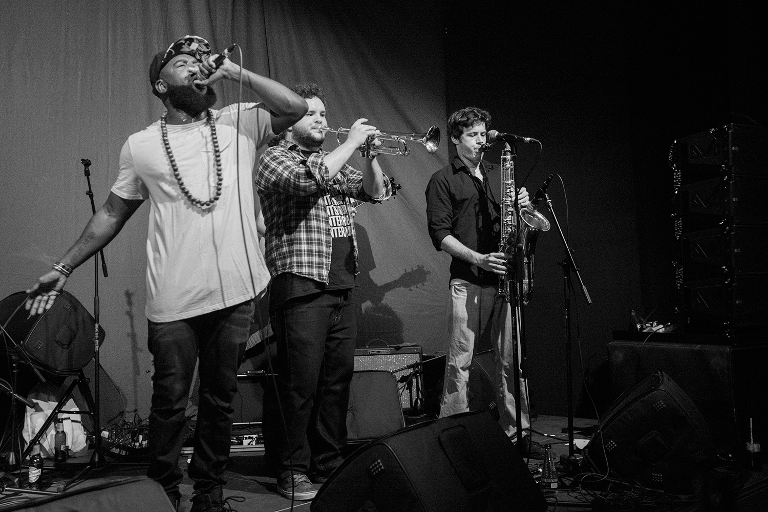 "April 28th 2017The 9-piece deliver infectious West African vibes from Ghana via Sheffield, with diverse origins conflating to whip up their signature heady brew of afrobeat, soul, funk and reggae otherwise dubbed ""Afro-fusion"".They've played Glastonbury main stages as well as many other UK and European festivals and venues. Including radio play all over the world as well as BBC radio 6.Another coup for the Upfont!"