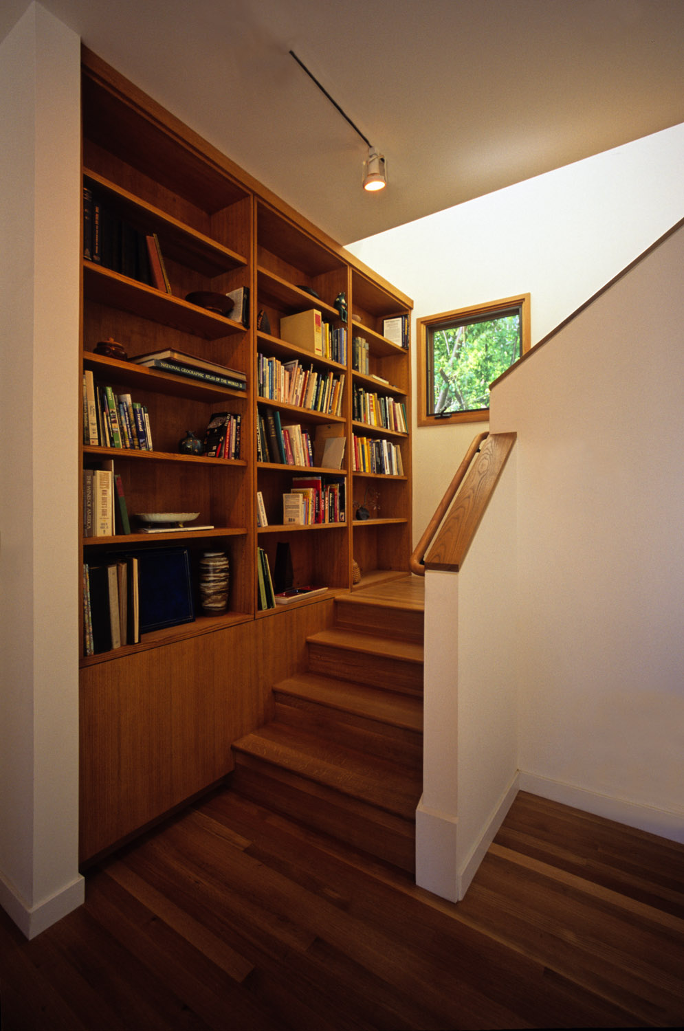 Library at stair