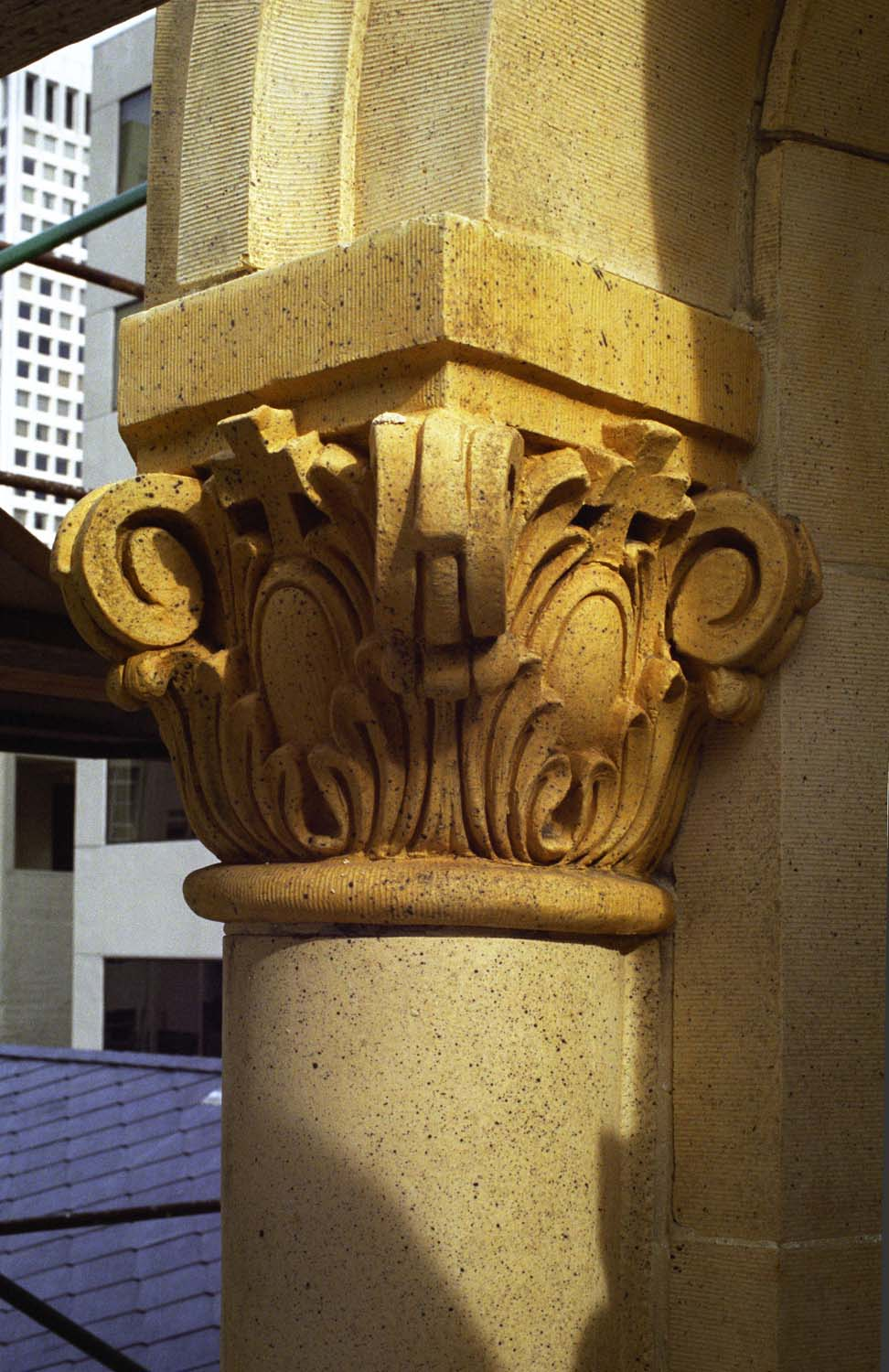 Close up of tower pilaster