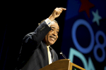DENVER-AUGUST 27: Reverend Al Sharpton addresses the Congressional Black Caucus at the Denver Convention Center during the Democratic National Convention August 27, 2008. Sharpton told the audience that Obama's election would benefit all of Americans not just African-Americans. Senator Obama will become the first African-American candidate for president from a major political party this week.