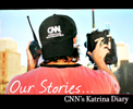 CNN camerman working during Hurricane Katrina in New Orleans