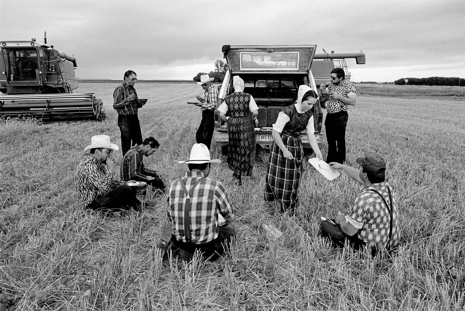 Hutterites living in Montana and Alberta, Canada are a communal branch of Anabaptists who, like the Amish and Mennonites, trace their roots to the Radical Reformation of the 16th century.
