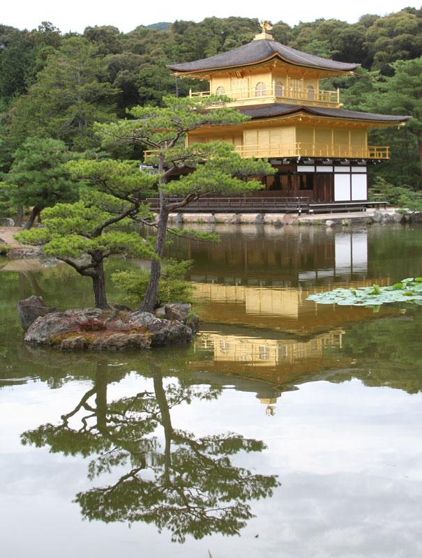 Golden Pavilion, Kyoto, Honshu, UNESCO World Heritage site.