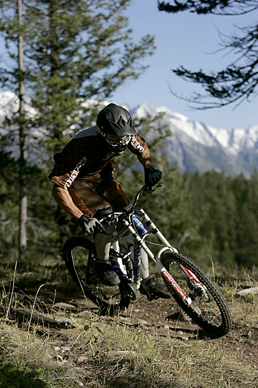 Mountain Biking in Banff, National Park, Alberta, Canada.