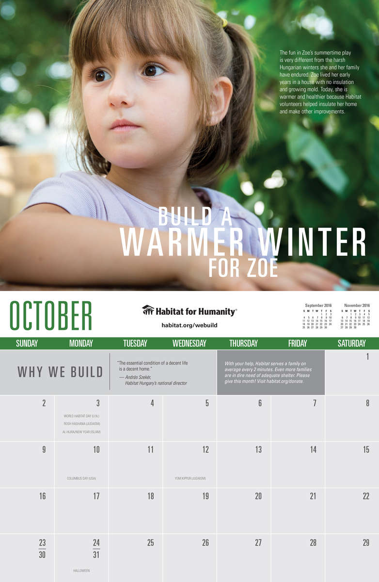 Habitat for Humanity International Calendar