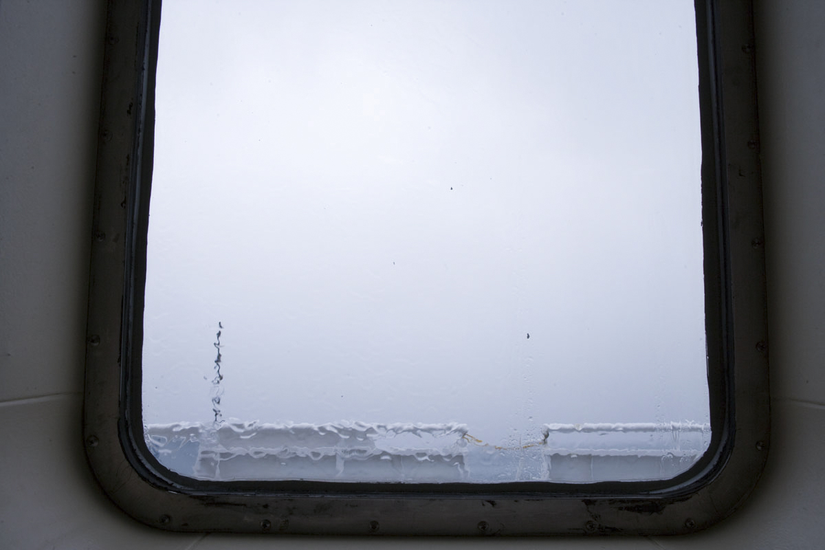 A stormy day at sea on board the M/V Tustumena near Kodiak Island.