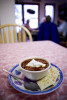 A hot bowl of borscht welcomes rain-soaked patrons of the Russian-owned Monk's Rock Coffee House and Bookstore.