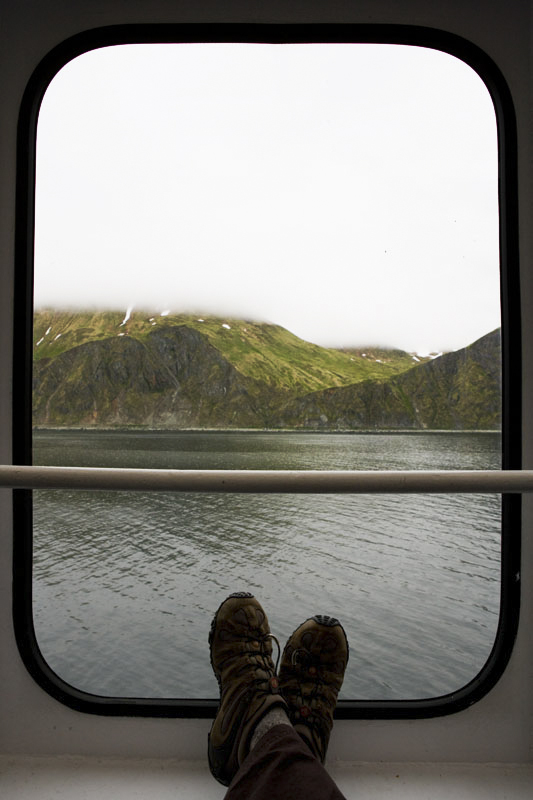 The view from the M/V Tustumena as it passes through Unalaska Bay into the port at Dutch Harbor.