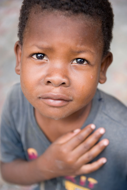 Henry Mackolene is a neighbor and friend of Francesa Saint-Hubert.  Francesa, 6, is Sabine Lorema's niece.  They live together, along with five other people, in a rental home in Gonaives.  Sabine used to live in the Christ-Roi neighborhood of Port-au-Prince.  Her husband, a bus driver, was killed during the January 12th earthquake when a public utility company building collapsed on top of his bus, while he was parked waiting to pick up riders.  Sabine is applying to partner with Habitat to build a core house.  © Habitat for Humanity International/Ezra Millstein