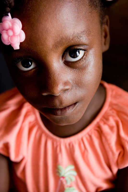 Puchina Valcin, 5, is the daughter of Annette Charles.  Annette, 34, sought refuge in Cap-Haitien after her home in Port-au-Prince was destroyed by the January 12th earthquake.  © Habitat for Humanity International/Ezra Millstein