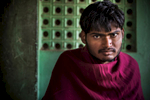 Rameshwar Bairwa, 25, has limited use of his legs due to polio.  He and his family worked in partnership with Habitat for Humanity to build a latrine in their compound.©Habitat for Humanity International/Ezra Millstein