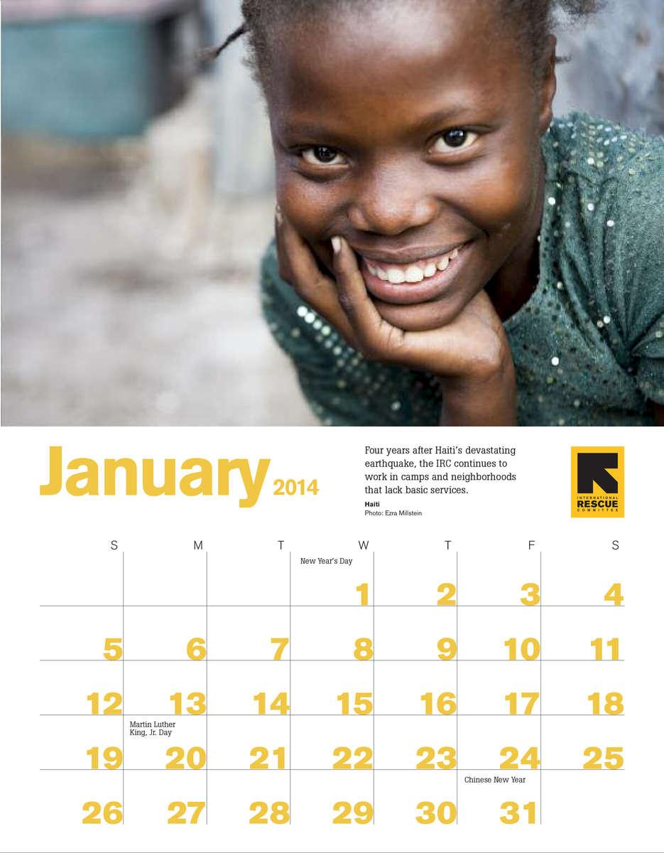 International Rescue Committe Calendar