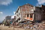 KATHMANDU, NEPAL (4/27/15)-Collapsed buildings line the streets of Kathmandu, two days after a massive 7.8-magnitude earthquake struck Nepal.© Habitat for Humanity International/Ezra Millstein