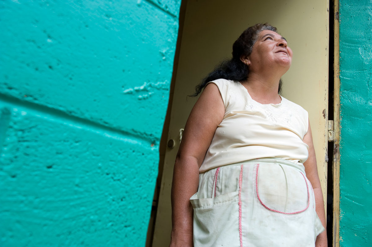 59 year-old Nadia Alfaro lives with her family in a Habitat home in the Brisas del Sur community.   © Habitat for Humanity International/Ezra Millstein