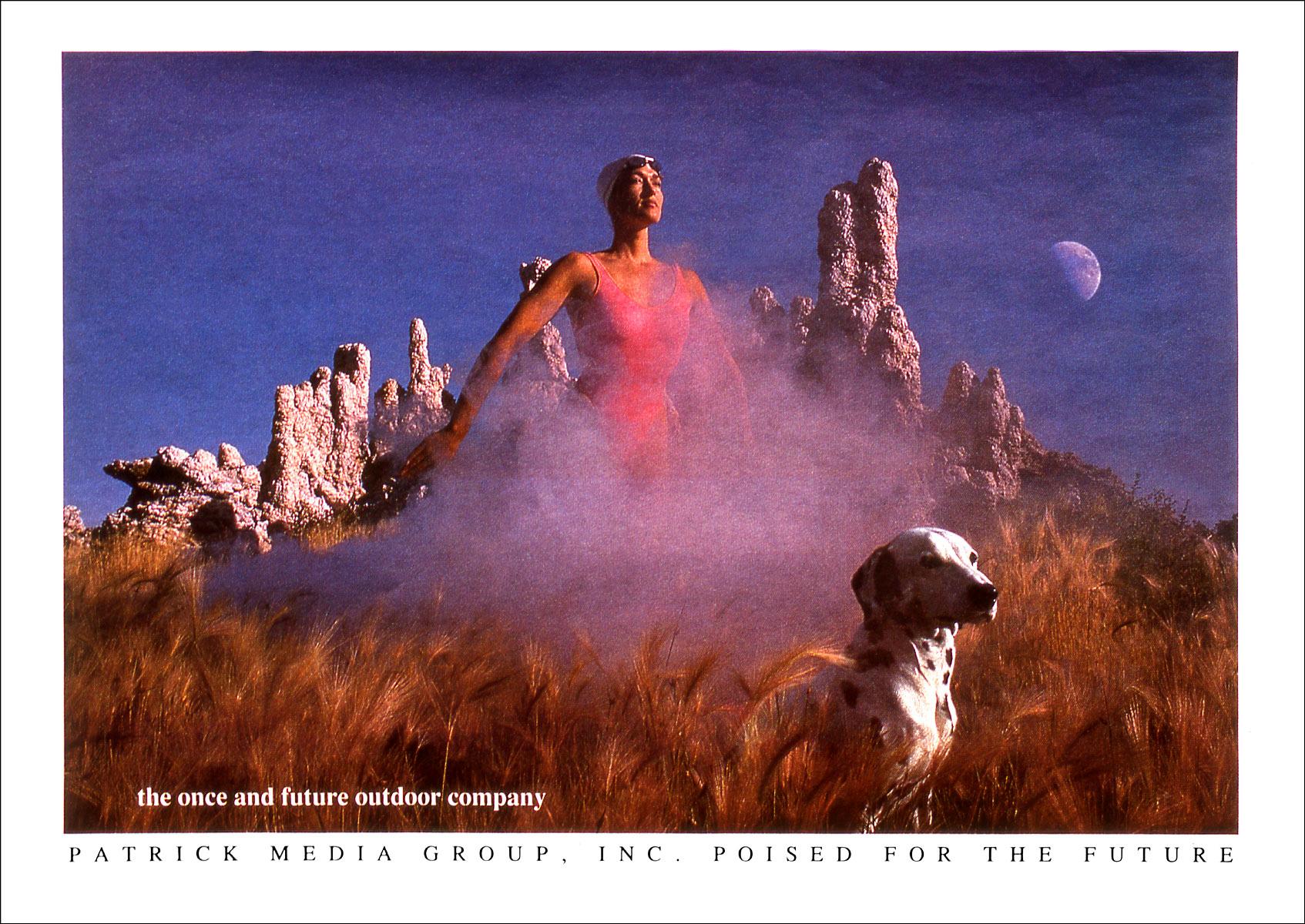 Ad for Patrick Media Group.  Shot at Mono Lake, Eastern Sierras, California.