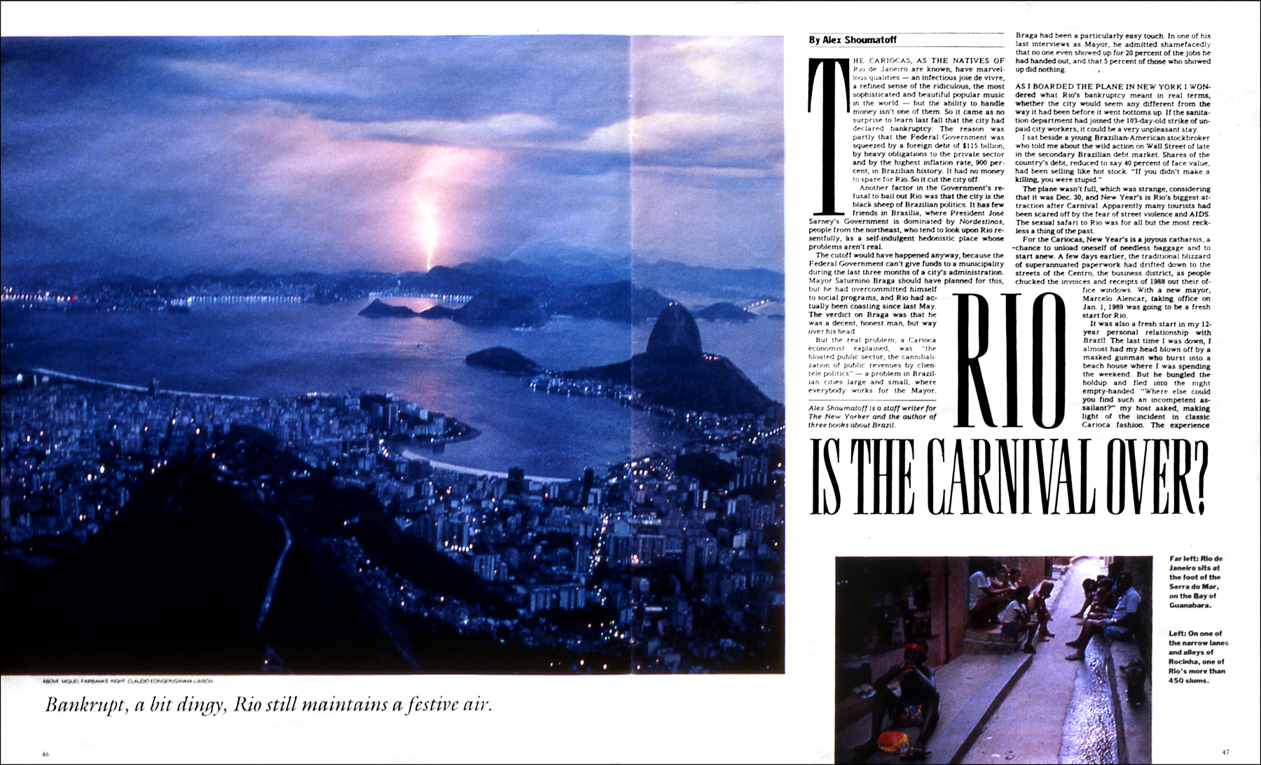 Photo of Pão de Azucar from the famed statue of Corocovado, overlooking Rio de Janeiro, Brazil, host of the 2016 Olympics.(for The New York Times Magazine)