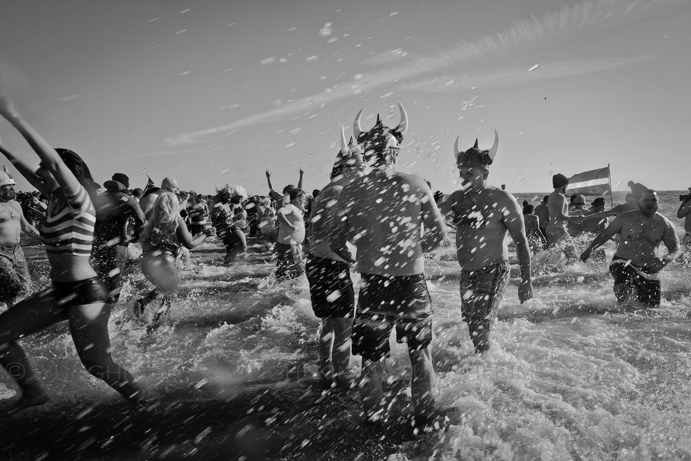 New Year's Day  2015, Polar Bear plunge at Coney Island. Yunghi Kim ©2015
