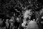 9/24/15 NY Neighborhood profiles series.  Jackson Heights Queens. Travers Park, morning Eid prayer. Women section is a handball court. © 2015 Yunghi Kim/Contact Press Images.