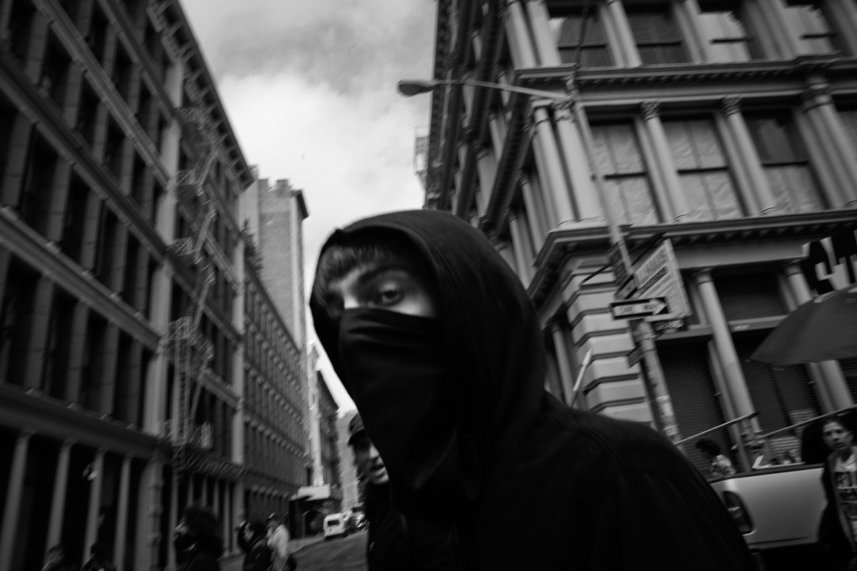 Black Bloc at the May Day Protest, NYC 2012. ©2017 Yunghi Kim/ Contact Press Images