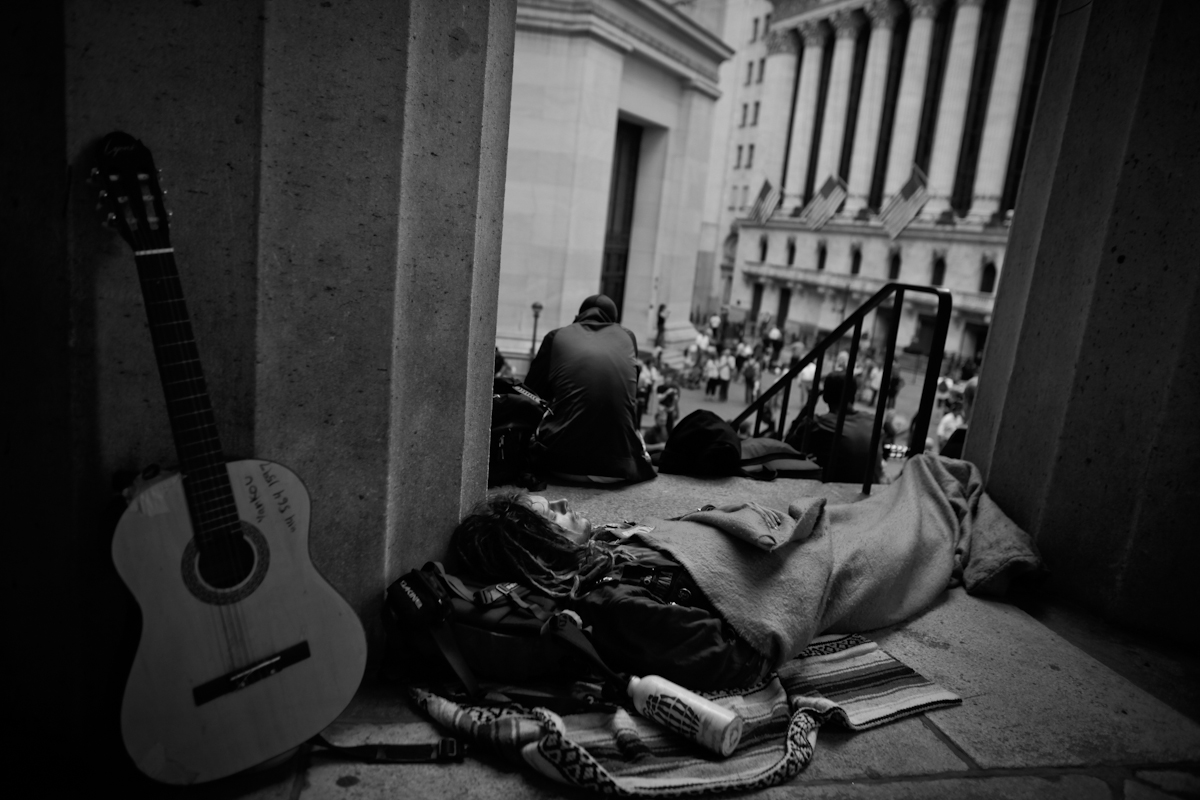 On Wall Street, Occupy Wall Street, 2012. ©2017 Yunghi Kim/ Contact Press Images