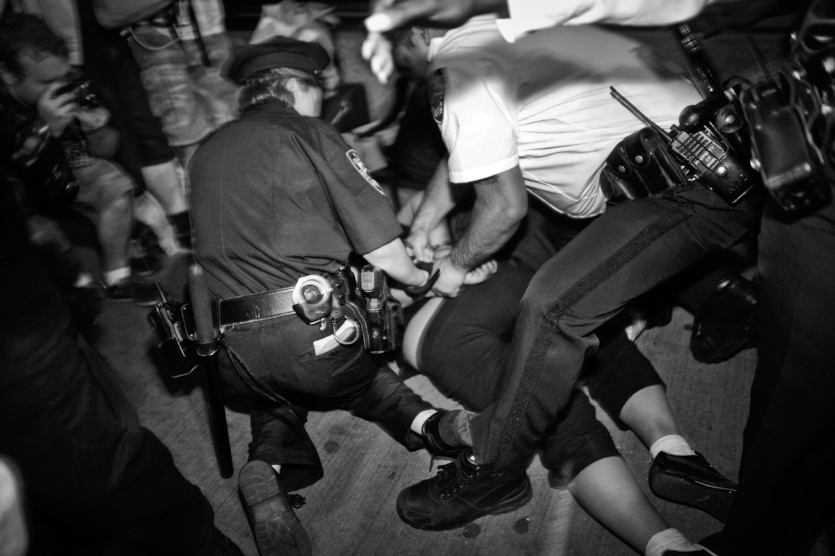 Arrest on Wall Street, Occupy Wall Street 2012. ©2017 Yunghi Kim/ Contact Press Images