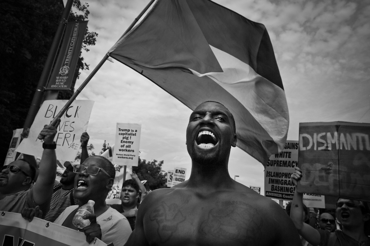 Black Lives Matter at the Republican National Convention, Cleveland Ohio, 2016. ©2017 Yunghi Kim/ Contact Press Images