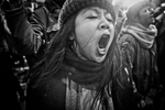 January 29, 2017. Grass roots protests against Tumps ban on 7 muslim countries at JFK airport NYC. Many visa holders and green card holders were detained. Yunghi Kim/ Contact Press Images.