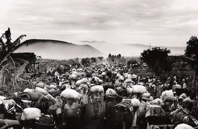 After enduring disease, hunger,  for two years in the refugee camps,  800,000 Rwandans on Nov. 15 suddenly leave the refugee camps for the long walk home.