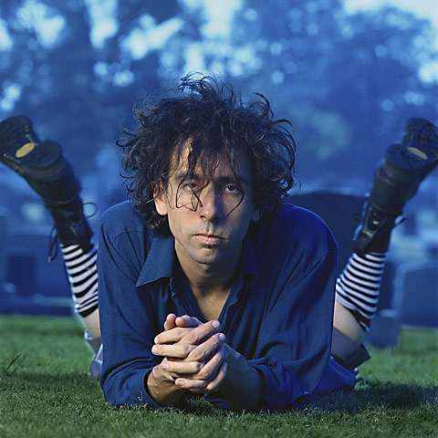 Photographed in a graveyard.Wardrobe and hair by Tim Burton.