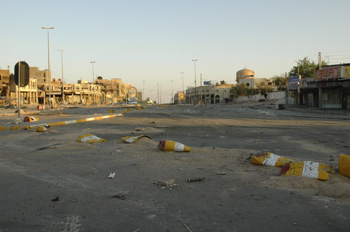 Whole sections of Najaf were abandoned for weeks while U.S. forces besieged the Mahdi Army in the city.