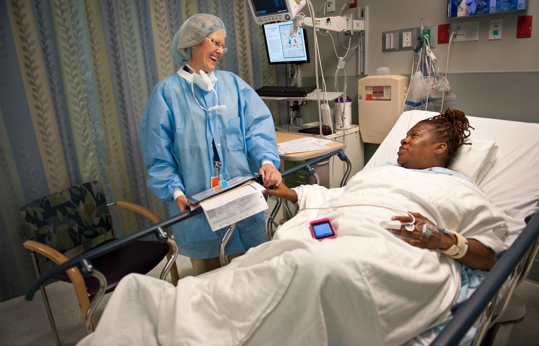 Juanita Britton prepares for gastric bypass surgery at Washington University Hospital in  Washington D.C. (C)Vanessa Vick