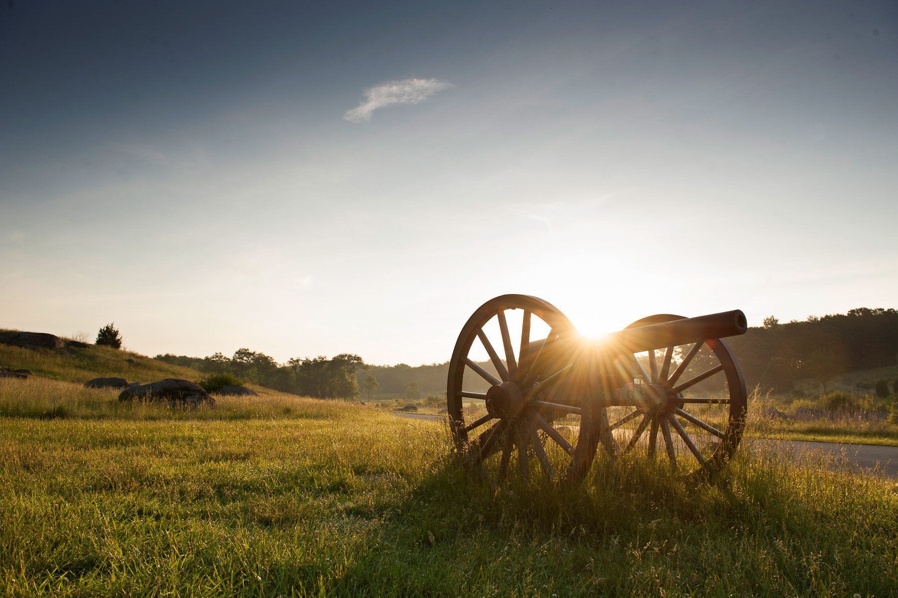 Canons are placed near Little Round Top one of the most scenic sites on the 24-mile auto tour winding through the Gettysburg National Military Park in Pennsylvania. May 31, 2013. VANESSA VICK FOR THE NEW YORK TIMES