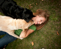 Cherie Phipps with her dogs in  Virginia. Copyright © Vanessa Vick 2012